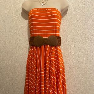 Ladies NWT Strapless Dress with Belt MAURICES